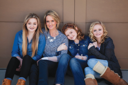 Jennie Johnson and her daughters