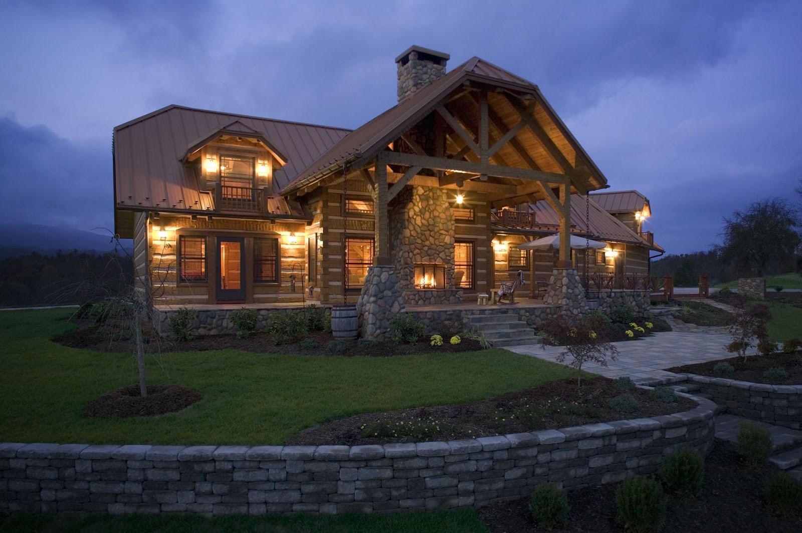 Custom Log Cabin Outside View